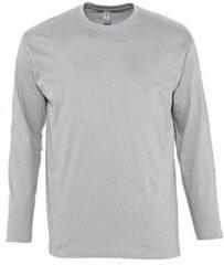 Grijze T-Shirt Lange Mouw Sols MONARCH COLORS MEN
