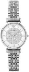 Emporio Armani AR1925 Horloge Gianni T-bar staal zilverkleurig 32 mm