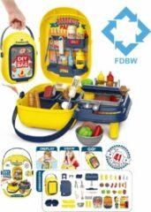 FDBW Speelgoed Barbecue | Barbecue Kinderen – Speelgoed | Speelgoed Barbecue Eenvoudig | Speelgoed Koken Plastic | Speelgoed Eten en Drinken Plastic - Barbecue