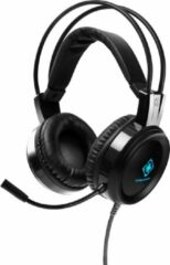 Deltaco Gaming DH110 Stereo Gaming Headset GAM-105 - 50 mm drivers - 2 x 3.5mm mini-jack - LED verlichting - Zwart