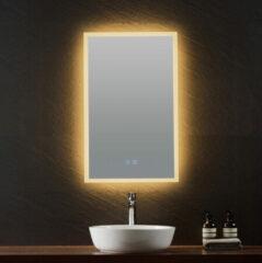 B-Stone Lunar spiegel met LED-verlichting en spiegelverwarming 45x70cm