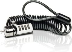 Zilveren Sweex Cable Combination Lock Curled
