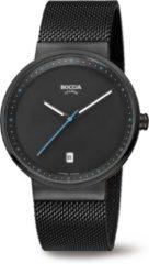 Boccia 3615-02 Horloge titanium/staal zwart 36 mm