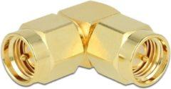 Gouden Delock Haakse adapter SMA mannelijk - SMA mannelijk