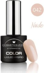 Huidskleurige Cosmetics Zone UV/LED Hybrid Gel Nagellak 7ml. Nude 042
