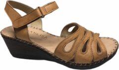 Manlisa velcro dames sandaal cognac mt 39