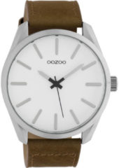 OOZOO Timepieces Horloge Bruin/Wit   C10320