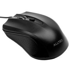 Allteq - Bedrade muis - Zwart