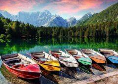 Rebo Productions Legpuzzel Boats At The Lake 1000 Stukjes