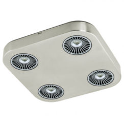 Grijze EGLO Montale - Spot - 4 Lichts - LED - 285X285mm. - Nikkel-Mat, Zwart