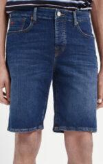 Scotch & Soda Ralston straight fit korte spijkerbroek met donkere wassing