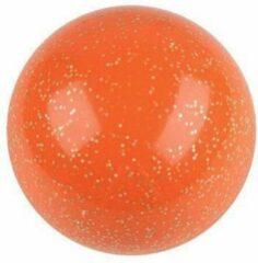 Merkloos / Sans marque Hockeyballen glitter oranje - no logo -12 stuks