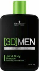Schwarzkopf Professional Schwarzkopf - 3D Men - Hair&Body Shampoo - 1000 ml