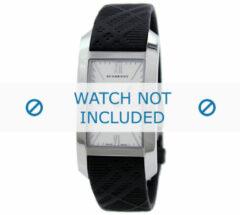 Zwarte Burberry horlogeband BU1083 Rubber Zwart