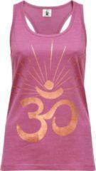 "Paarse Yoga-Racerback-Top ""OM sunray"" - rose wine copper L Loungewear shirt YOGISTAR"