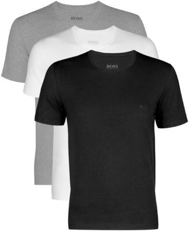 Afbeelding van Actie 3-pack: Hugo Boss T-shirts Regular Fit - O-hals - zwart - wit en grijs - Maat L