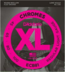 D'Addario ECB81 45-100 Chromes Flatwound Stainless Steel