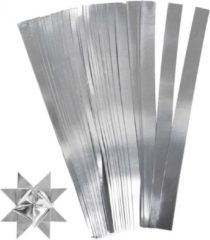 Merkloos / Sans marque 100 Papieren stroken zilver 45 cm