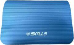 Db Skills Fitnessmat blauw 1,5 cm dik - Yogamat Blauw + nu met Gratis Springtouw - sporten buiten of binnen - dbSKILLS - Anti slip - sportmat -yogamat extra dik 183 cm 61 cm 1.5 dik nu met gratis draagriem!