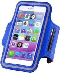 Donkerblauwe Qatrixx Sports armband case Donker Blauw Dark Blue voor Apple iPhone 7 Plus