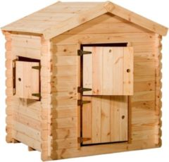 Bruine Woodvision - Speelhuisje Siem - Grenen - 130x105,5x150 cm