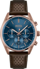 Hugo Boss BOSS HB1513817 CHAMPION - Horloge - Leer - Bruin - Ø 44 mm