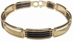 Gouden Christian Bicolor armband met keramiek