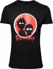 Rick & Morty Rick and Morty Silhouette T-shirt Zwart/Rood N.v.t. Heren T-shirt Maat XL