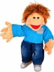 Lichtblauwe Living Puppets Handpop Jo - 45 cm
