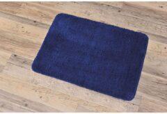 Marineblauwe Gebor Mooie Anti Slip Badkamermat – Micro Vezel - Badmat/Douchemat – Navy Blauw - 50x70CM - Antislip Vloerkleed Mat voor in Badkamer/Toilet/WC – Badkamer