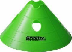 Sportec Afbakenbollen Soft Extra Groot Met Gaten Neon Groen