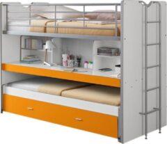 Vipack Bonny Stapelbed Met Uitschuifbaar Bureau Orange