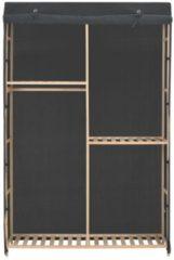 VidaXL Kledingkast 3-laags 110x40x170 cm stof grijs