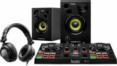 Hercules DJ Controller LEARNING KIT DJ-controller Digital Vinyl System (DVS)-scratcher