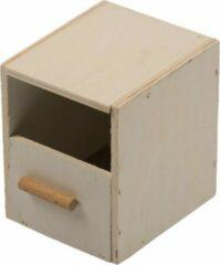 Bruine Duvo Nestkast vink 1/3 open klein kweekkooi 10,5x12x13cm