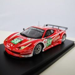 FUJIMI by True Scale Miniatures FUJIMI 1:43 Ferrari 458 Italia GT2 Luxury Racing #58 Le Mans 24h 2011