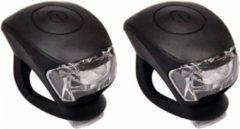 Urban Proof - Siliconen Fietsverlichtingsset - LED - Zwart