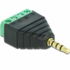 Oks DeLOCK 65453 kabeladapter/verloopstukje 3.5mm 4pin Zwart, Groen