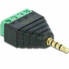 Oks DeLOCK 65453 kabeladapter/verloopstukje 3.5mm 4pin Zwart, Groen