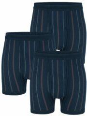 Marineblauwe Boxershorts G Gregory 3 x marine/rood/wit