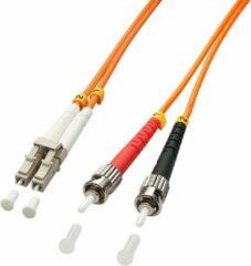 LINDY 46490 Glasvezel Aansluitkabel [1x LC-stekker - 1x ST-stekker] 50/125 µ Multimode OM2 1.00 m