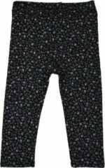 R Rebels | Katoenen kinder legging | Zwarte bloemenprint | Maat 62