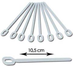 Witte Martellato Plastic (ijs) lollystokjes 10,5cm - 100stuks