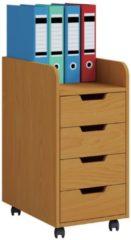 Rollcontainer Bürocontainer Schubladenschrank Büroschrank Schubladen Konal Mini VCM Buche