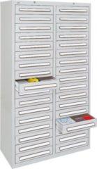Stumpf Metall Stumpf® ST 420 plus Schubladenschrank mit 34 Schubladen, lichtgrau - 180 x 100 x 50 cm