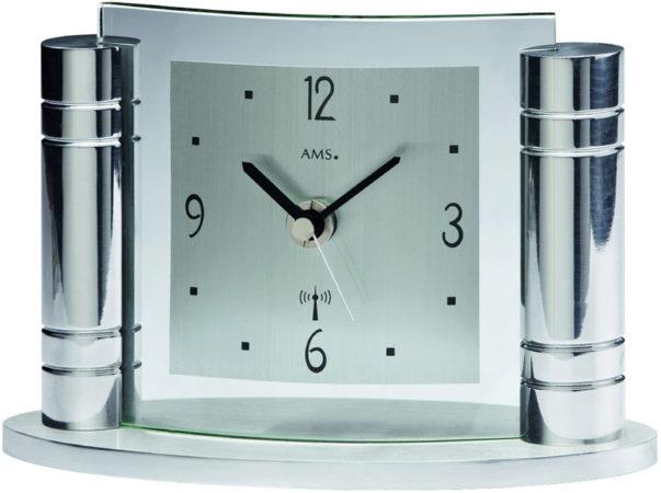 Afbeelding van Zilveren AMS 5130 Tischuhr modern - Serie: AMS Tischuhren