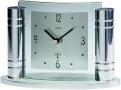 Zilveren AMS 5130 Tischuhr modern - Serie: AMS Tischuhren