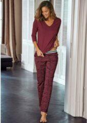Rode S.Oliver RED LABEL Beachwear pyjama lange broek met animal-print