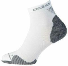 Witte Odlo Socks Quarter Ceramicool Quarter Sportsokken Unisex - White - Maat 42-44