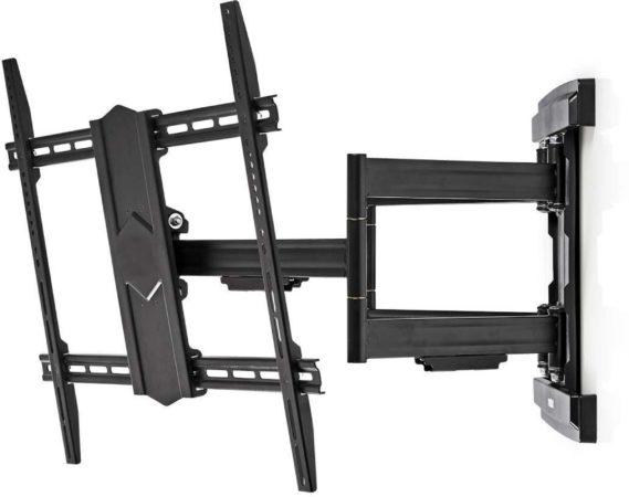 Afbeelding van Zwarte Nedis premium muurbeugel voor schermen tot 90 inch / full motion (3 draaipunten)